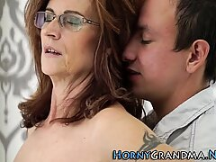 Grandmas ass jizzed on