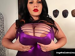 Cuban Cuntplugger Angelina Castro & 2 LezBfriends = 3 bbw round vulvas!