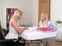 Petite Euro Blondi on Lesbo Casting