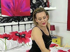 Mature Lady Takes Off Sexy Lingerie - Betsy Blue