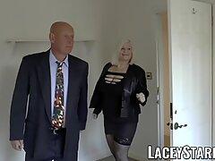 Laceystarr  - 熟女英国人婴儿,性交和面部化
