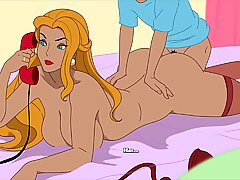 Milftoon Drama - Gloria in haar lingerie