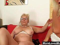 Il nonna ben dotato penetra in milf