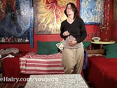 Soledad Strippailut ja masturboi sohvalla
